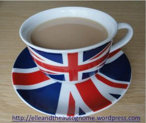 Union Jack cup and saucer, full