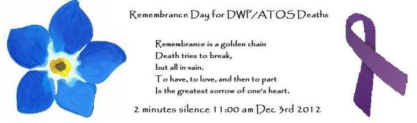 2012-12-03, 2 min silence for DWP & ATOS deaths