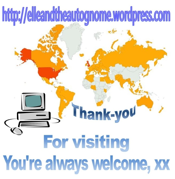 2013-01-29, Blog visitor map, thank-yoooouuu