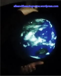 Tai Chi holding planet earth, the world